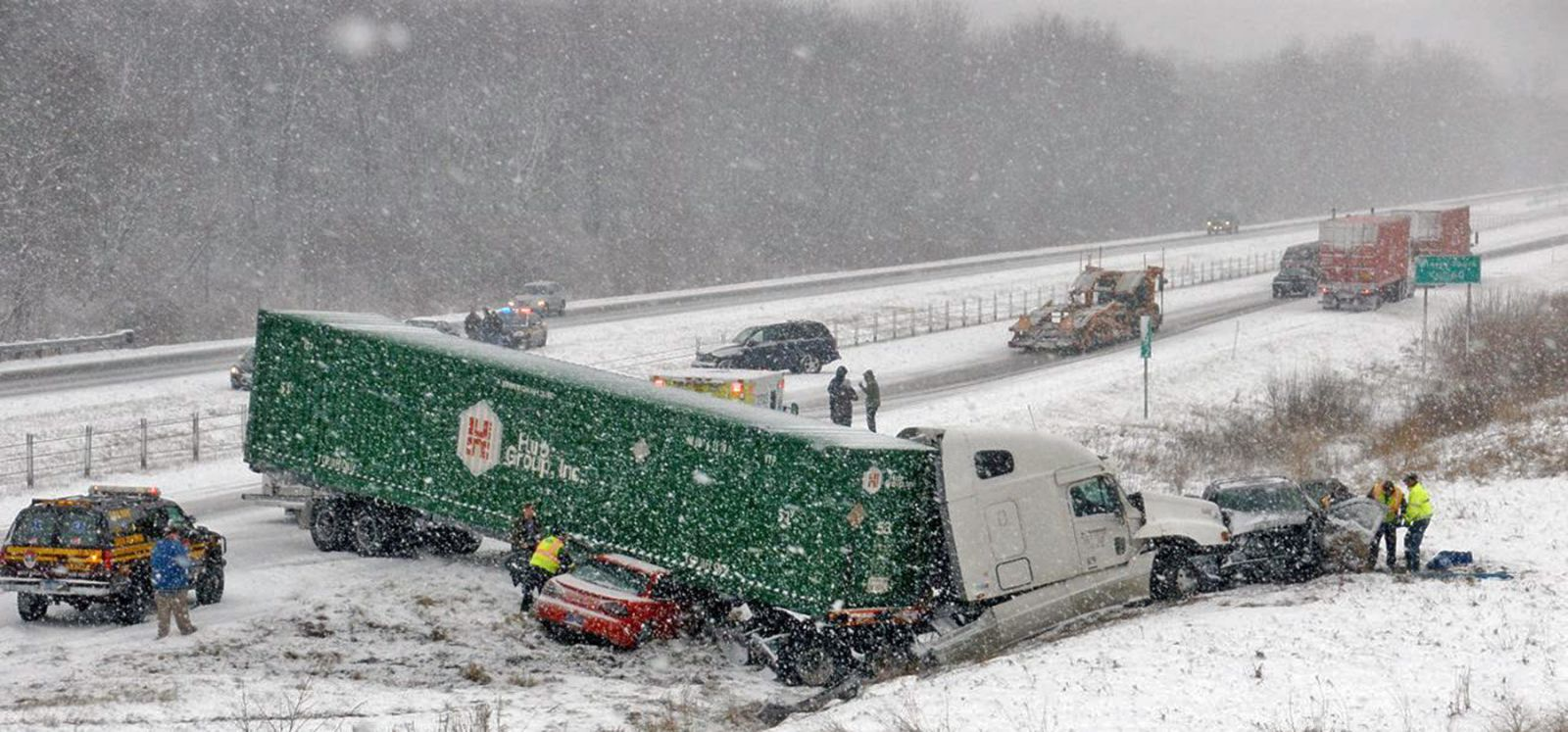 Personal injuries involving commercial truck accidents